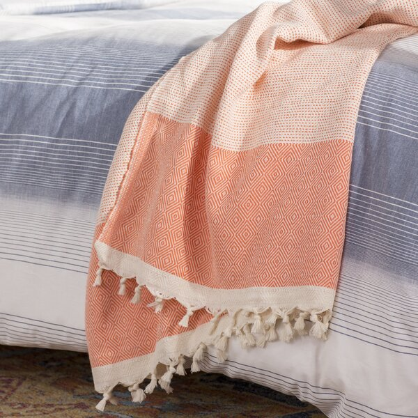 Aldo Turkish Cotton Throw Blanket by Trent Austin Design