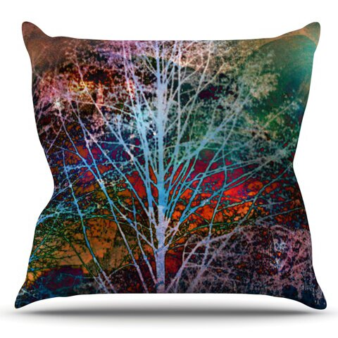 Trees in the Night by Sylvia Cook Outdoor Throw Pillow by East Urban Home