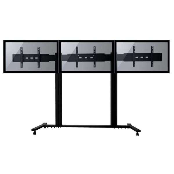 TygerClaw Mobile 2 TVs Universal Floor Mount for 30-60 Flat Panel Screens by Homevision Technology
