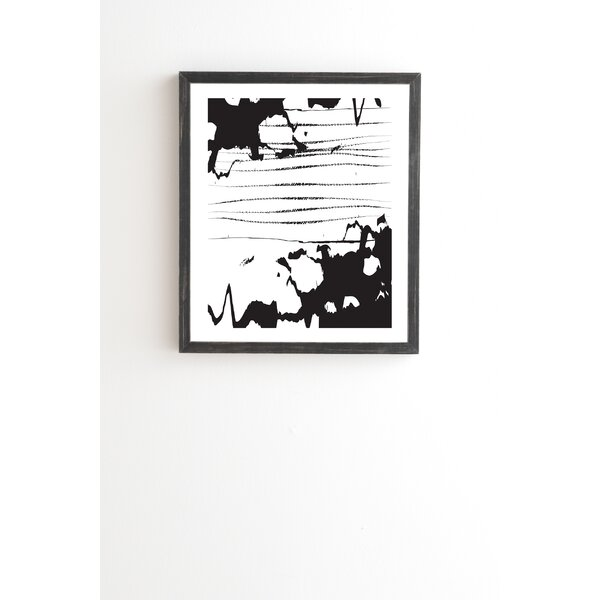 Inkblot Framed Painting Print by East Urban Home