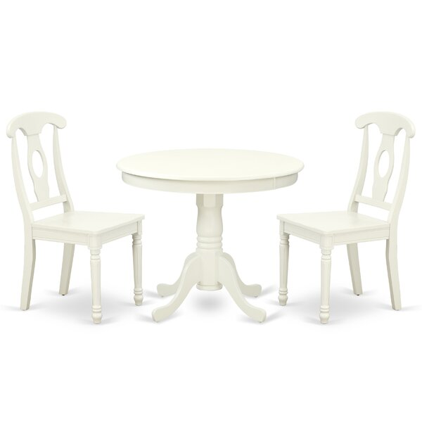 Koski 3 Piece Solid Wood Breakfast Nook Dining Set by August Grove