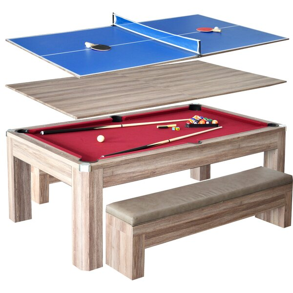 Newport 2 Piece 7 Pool Table Set By Hathaway Games.