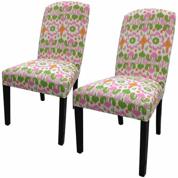 Flora Cotton Parson Chair (Set of 2) by Sole Designs