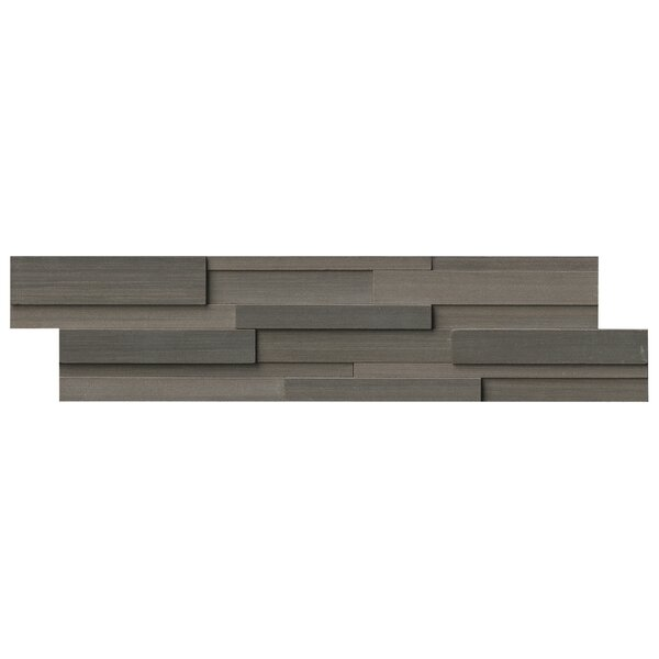 Wave 6 x 24 3D Honed Panel Random Sized Natural Stone Splitfaced Tile in Brown by MSI