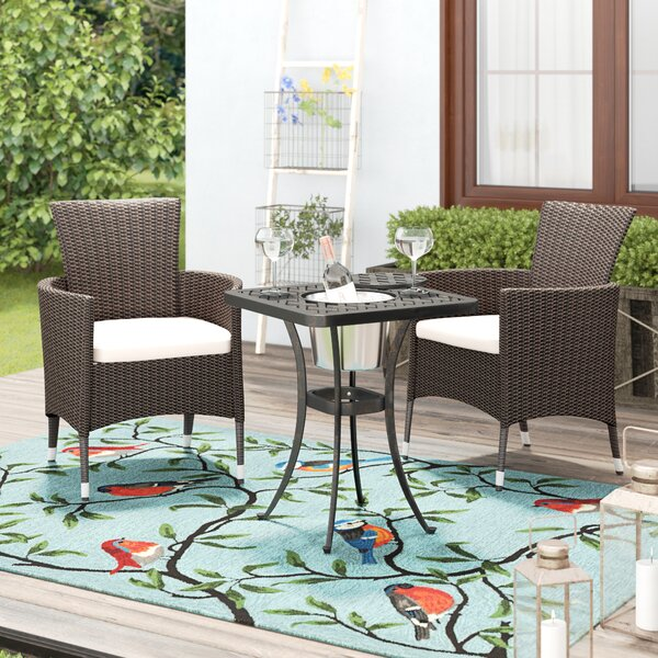 Parramore 3 Piece Rattan Seating Group with Cushions by Andover Mills