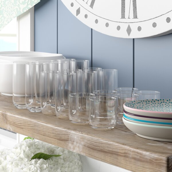 Caladium 18 Piece Tumbler Set by Mint Pantry