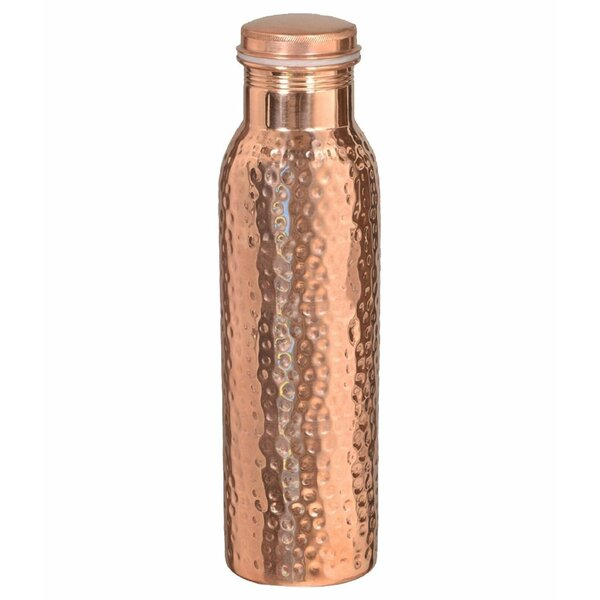 Demosthon Leakproof Hammered 30 oz. Copper Water Bottle by Latitude Run