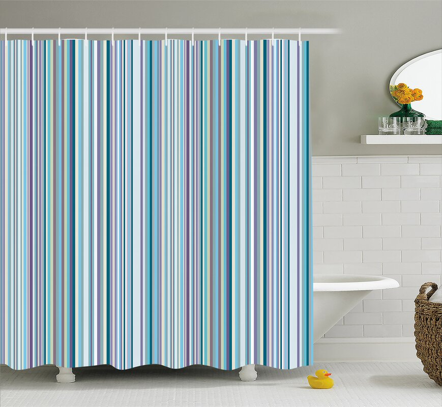 purple and turquoise shower curtain. Syreeta Blue Purple Geometric Shower Curtain Longshore Tides