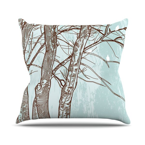 Winter Trees Throw Pillow by KESS InHouse