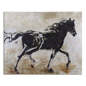 Black Beauty Canvas Print by Birch Lane™