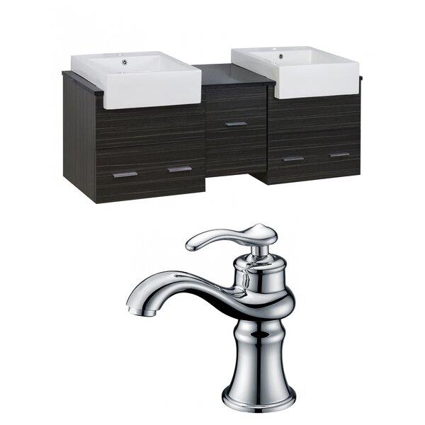 Alican 60 Wall-Mounted Double Bathroom Vanity Set