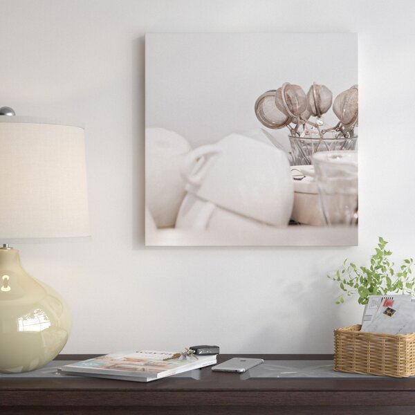 Tea Cups and Strainers Photographic Print on Wrapped Canvas by East Urban Home