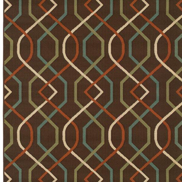Newfield Brown/Ivory Indoor/Outdoor Area Rug by Threadbind