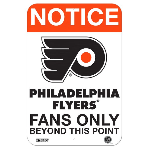 Fans Only Aluminum Sign Textual Art by Steiner Sports