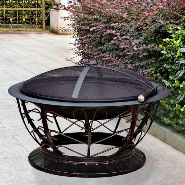Scroll Steel Wood Burning Fire Pit by Jeco Inc.