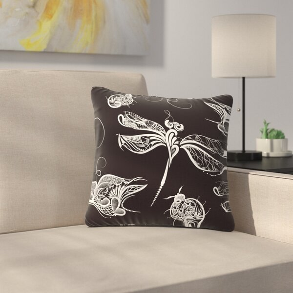 Maria Bazarova Insects Animals Outdoor Throw Pillow by East Urban Home