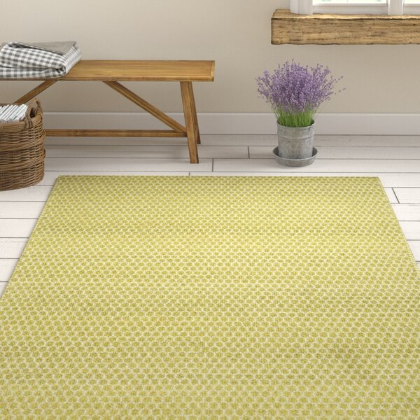 Quays Hand-Woven Citron Gold/Yellow Area Rug by Gracie Oaks