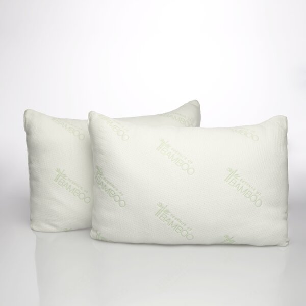 Essence of Bamboo Down Alternative Pillow (Set of 2) by Pegasus Home Fashions