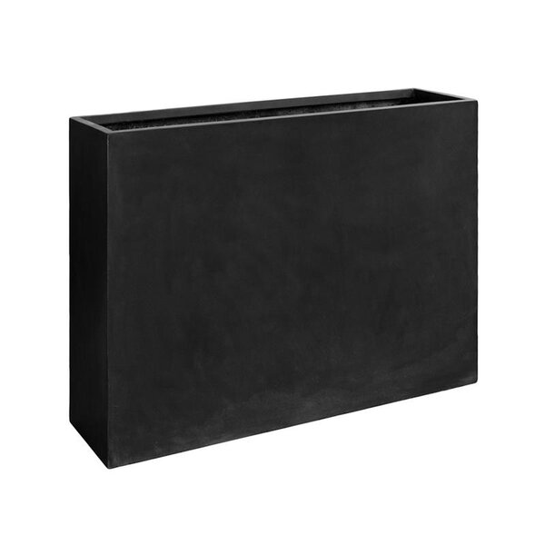 Basic Luxurious Black Rectangular Planter Box by Pottery Pots