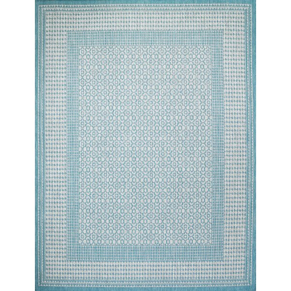 Satter Turquoise Indoor/Outdoor Area Rug by Charlton Home