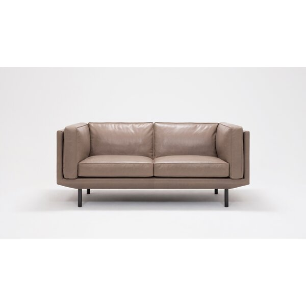 Reviews Plateau Feather Filled Loveseat by EQ3
