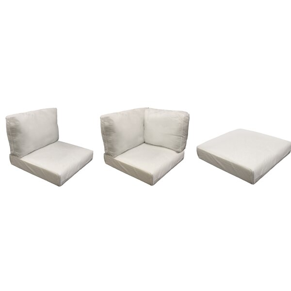 East Village Outdoor 25 Piece Lounge Chair Cushion Set by Rosecliff Heights
