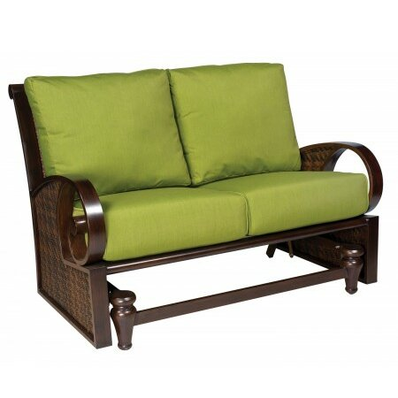 North Shore Loveseat Glider Bench with Cushions by Woodard