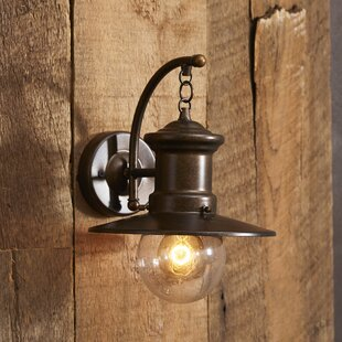 Great Price Acklins 1-Light Outdoor Barn Light By Beachcrest Home