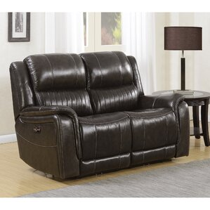 Guineau Power Top Grain Leather Reclining Loveseat & Top Grain Leather Loveseat | Wayfair islam-shia.org
