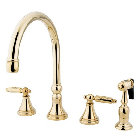 Georgian Gourmetier Double Handle Kitchen Faucet by Kingston Brass