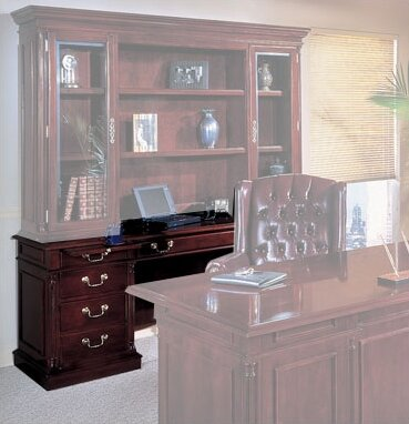 Flannagan Traditional Wood Executive Desk by Three Posts