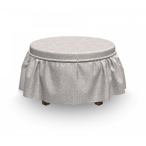 Concentric Rhombus Tile Ottoman Slipcover (Set Of 2) By East Urban Home