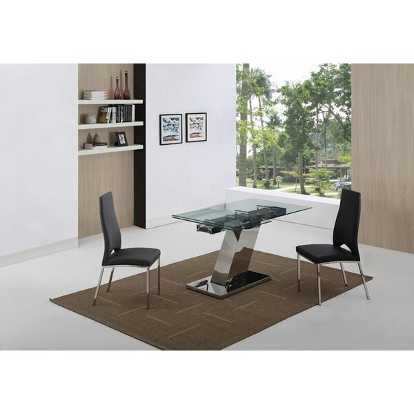 Sleek Extendable Dining Table by Whiteline Imports
