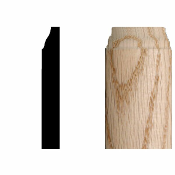 3/8 in. x 3/8 in. x 3-1/4 in. Oak Radius Base Corner Block Molding by Manor House
