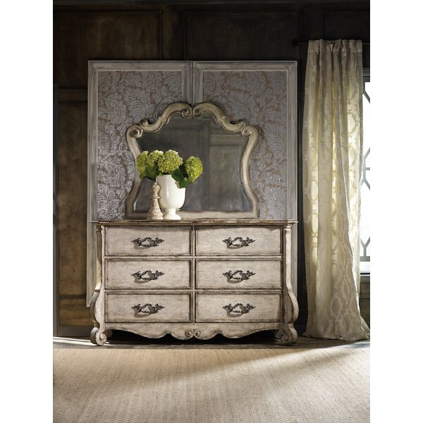 Chatelet 6 Drawer Double Dresser with Mirror by Hooker Furniture