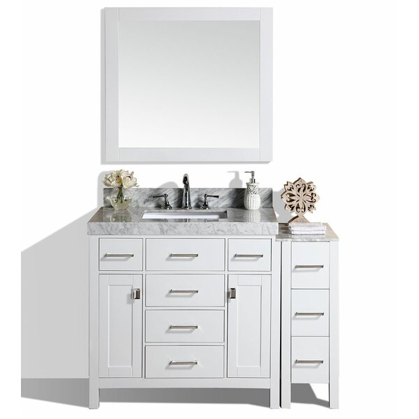Laub 53 Single Bathroom Vanity Set with Mirror by House of Hampton