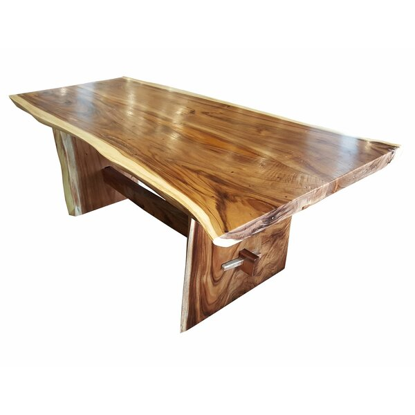 Cardoza Live Edge Unique Slab Dining Table by Loon Peak Loon Peak