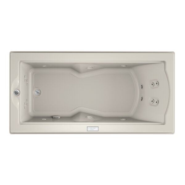 Fuzion Chroma Left-Hand 72 x 36 Drop-In Whirlpool Bathtub by Jacuzzi®