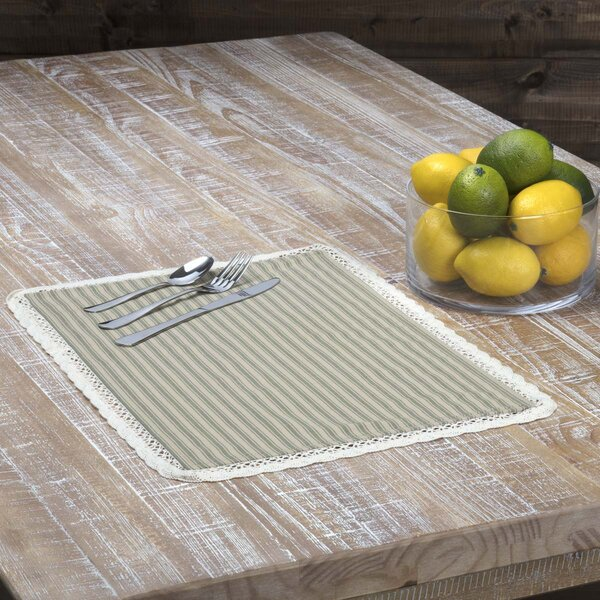 Ding Stripe Placemat (Set of 6) by Gracie Oaks