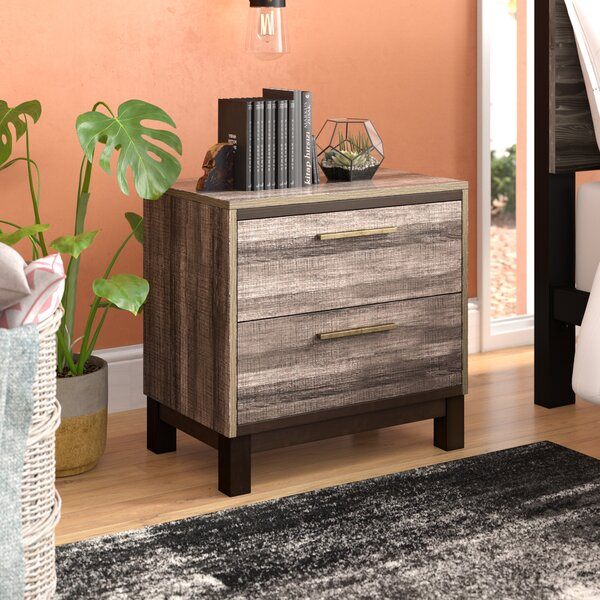 Pinnacles 2 Drawer Nightstand by Trent Austin Design