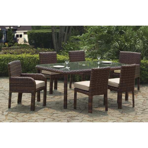 Losey 7 Piece Dining Set with Cushion by Rosecliff Heights