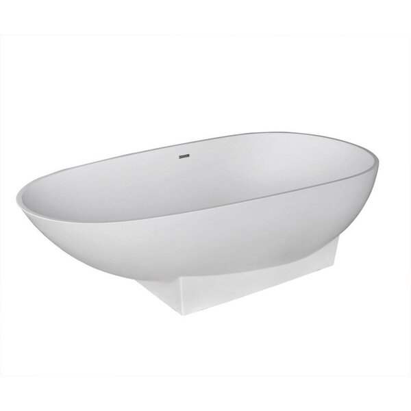 Valira 70.87 x 35.5 Artificial Stone Freestanding Bathtub by Spa Escapes