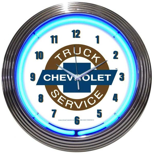 Cars and Motorcycles 15 Chevy Truck Wall Clock by Neonetics