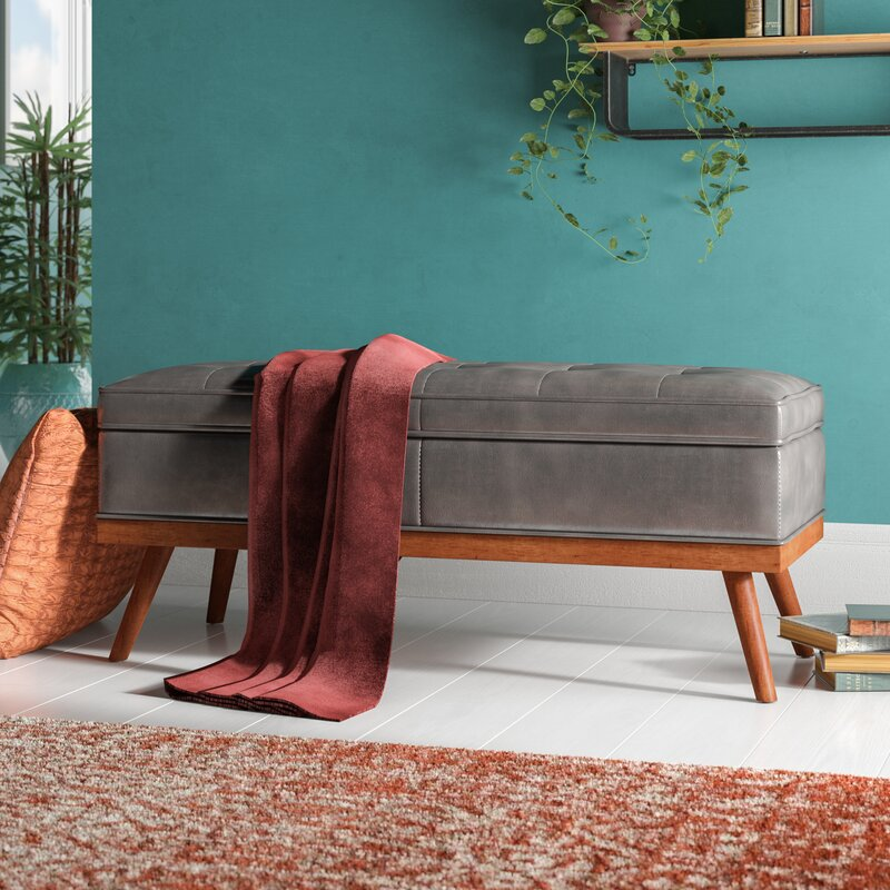 Ronquillo Faux Leather Storage Bench