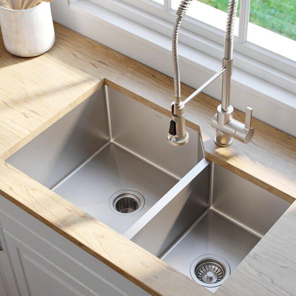 32 L x 20 W Double Basin Undermount Kitchen Sink by Kraus