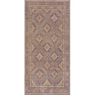 Antique One-of-a-Kind Khotan Hand-Woven Plum Area Rug