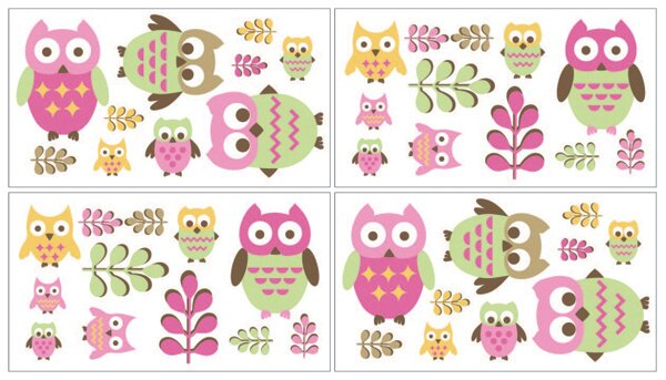 Happy Owl Wall Decal by Sweet Jojo Designs