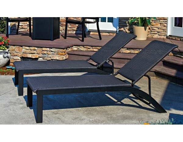 Kendall Stacking Reclining Chaise Lounge (Set of 2) by Telescope Casual