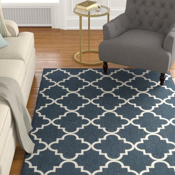 Hanley Navy Area Rug by Charlton Home