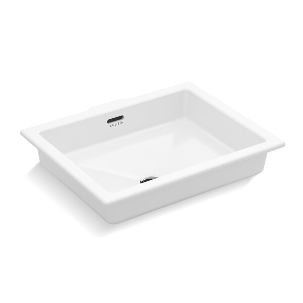 Perfect Centric Rectangle Undermount Bathroom Sink with Overflow by Kallista